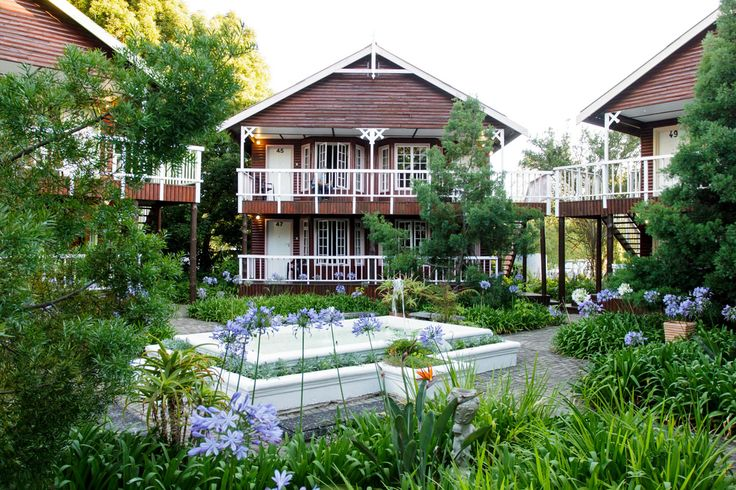Gorgeous log cabins at Tsitsikamma Village Inn.