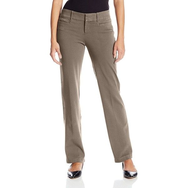 Dockers Women's Petite Ideal Trouser Pant ($27) ❤ liked on Polyvore featuring pants, petite, petite pants, dockers pants, petite trousers, tailored trousers and patterned pants