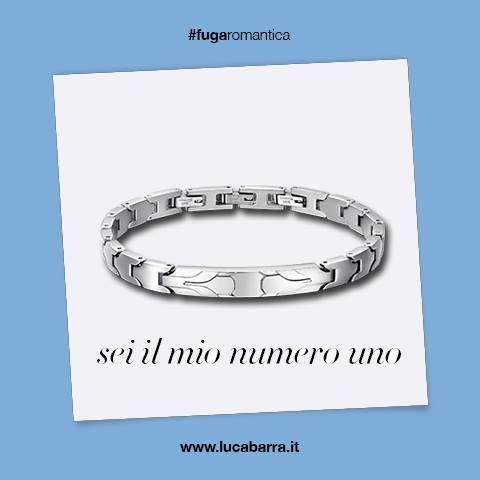 Bracciale in acciaio con piastra centrale Luca Barra Gioielli. #bracciale #festadelpapà #idearegalofestadelpapà #lucabarragioielli