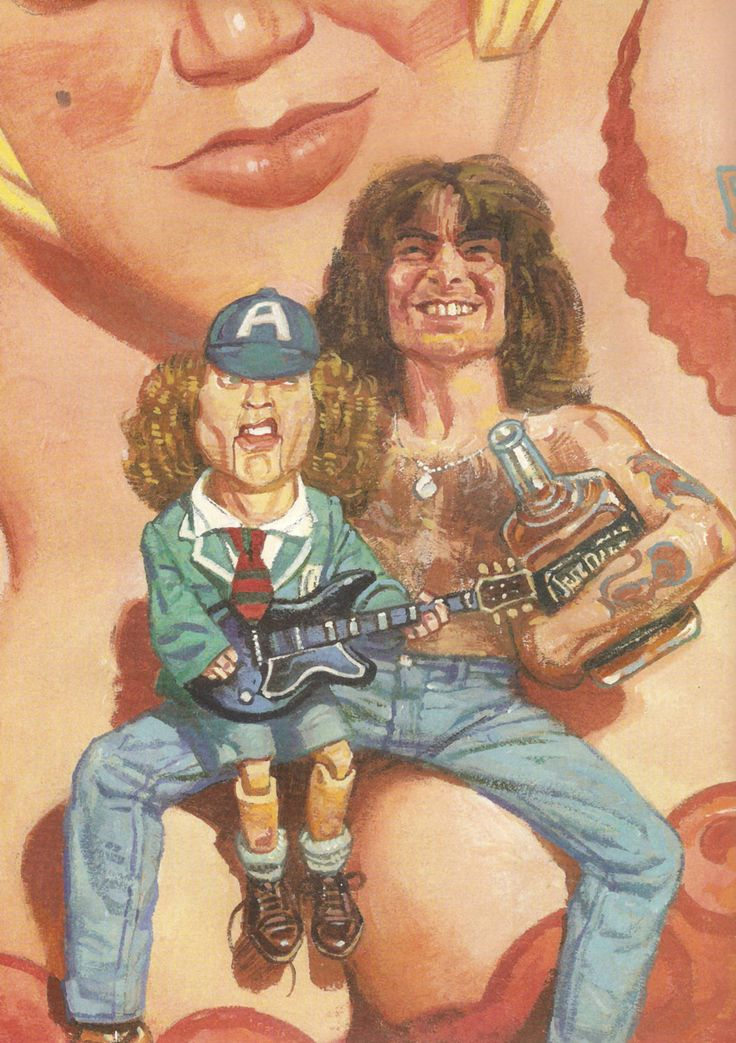 AC/DC bon scott with angus young POPART poster by JustMemorabilia, $7.99