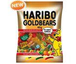 A bulk box of 16 bags of Haribo Gold Bears 40g lollies.