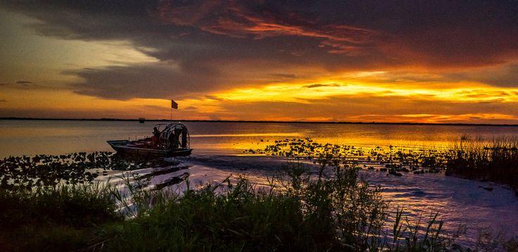 Lake Washington, Melbourne Florida,  Airboat