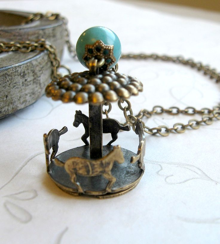 Mini Carousel Charm Necklace