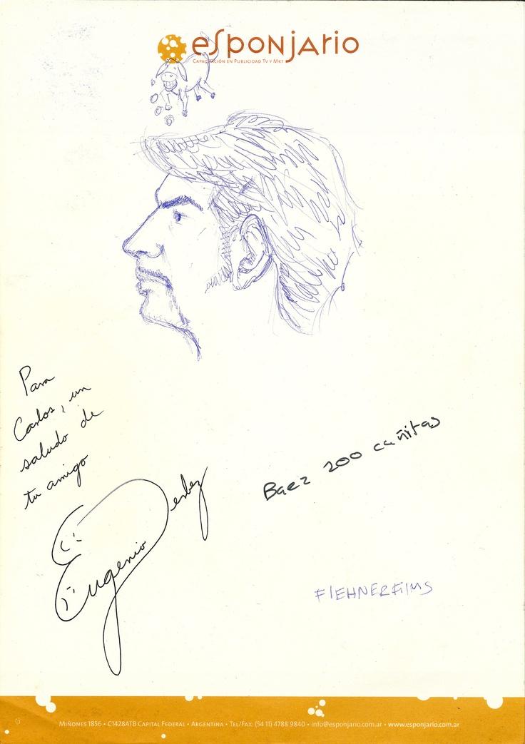 Eugenio Dervez, autógrafo.