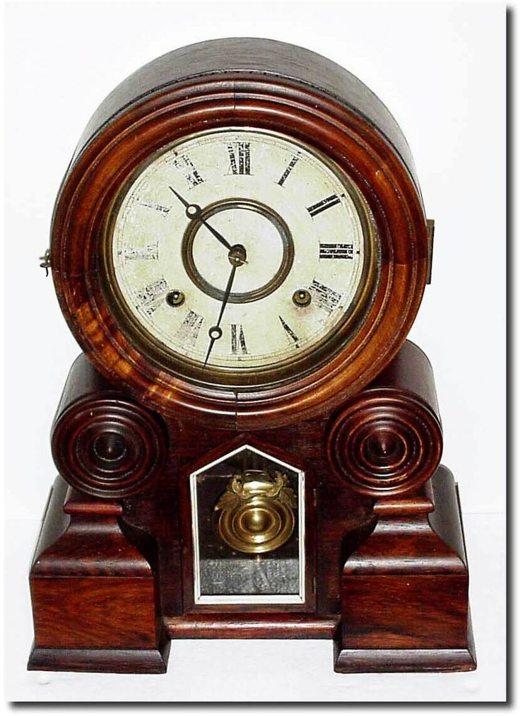 "antique clocks | Antique Ingraham Clock Company ""Dakota"" Model Clock"