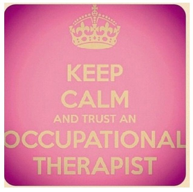 Occupational Therapist re-pinned by @Thriving Kids Therapy