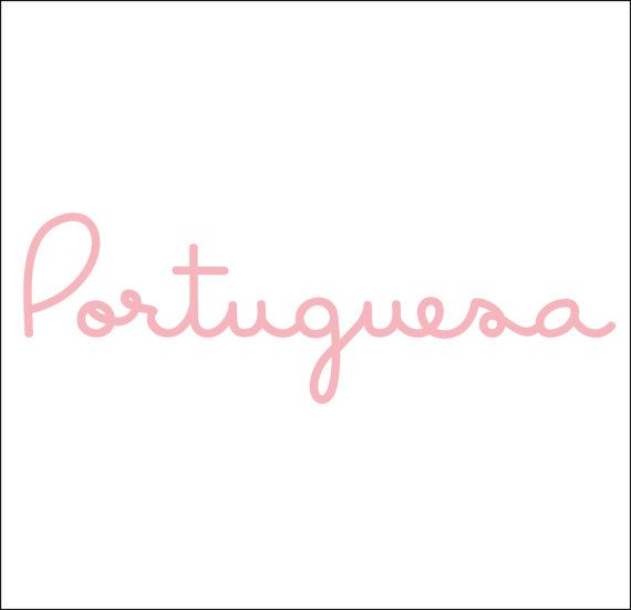 Portuguesa (Portuguese Girl) Decal in White on Etsy, $4.00
