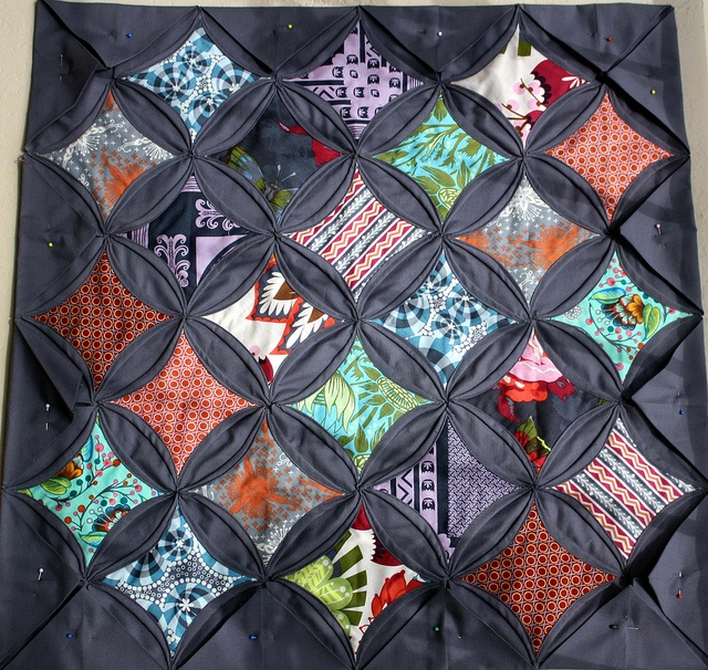 27 best Cathedral window quilt images on Pinterest | Cathedral ... : cathedral window quilt block instructions - Adamdwight.com