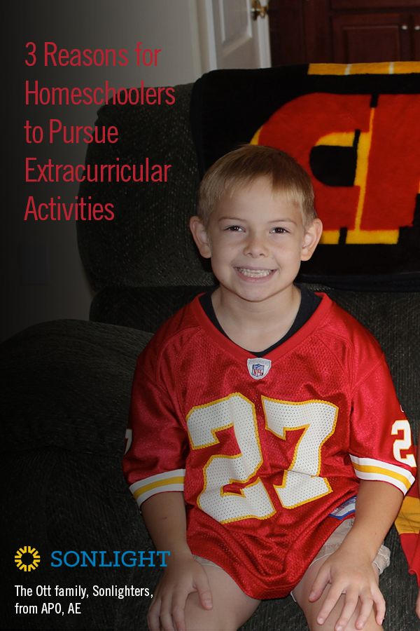 Three Reasons for Homeschoolers to Pursue Extracurricular Activities http://www.sonlight.com/blog/extracurricular-activities.html