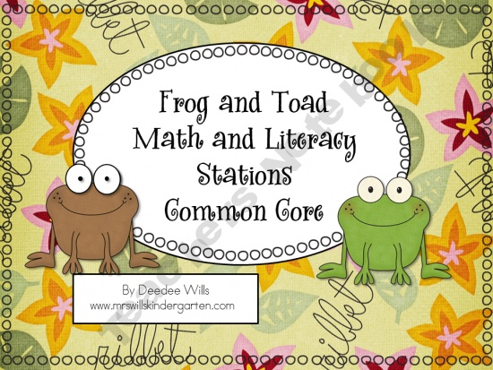 Frog and Toad Common Core Literacy and Math Stations