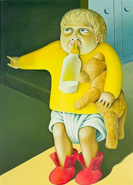 Michael Smither. Joseph with Bear and Bottle THE LES AND MILLY PARIS COLLECTION