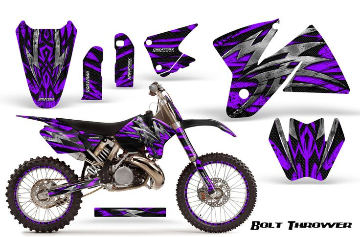 Purple dirt bike plastic