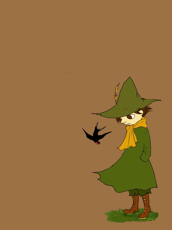 vederlicht:    Snufkin finds a kindred spirit on his travels.