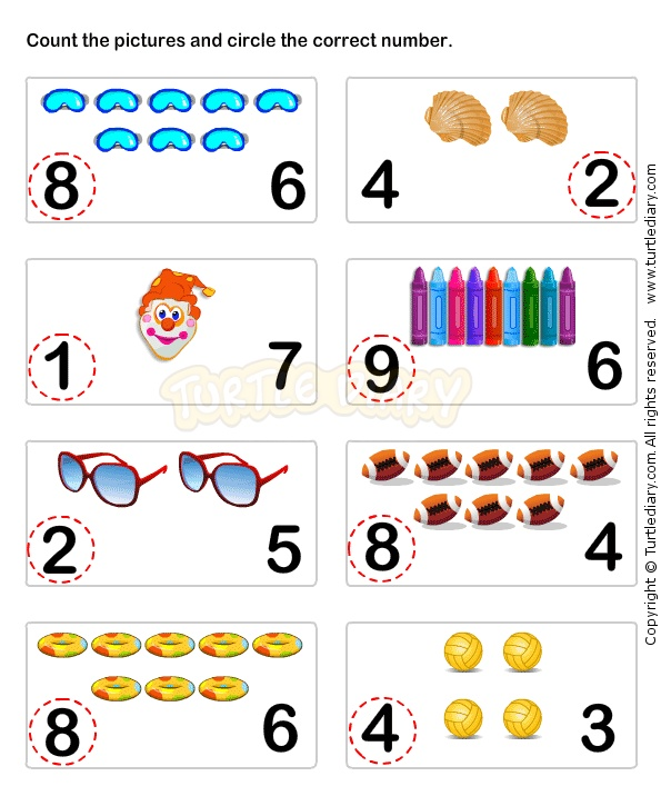 Number Matching Worksheets Early Learning For Andrew