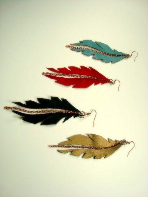 Flying feather earrings