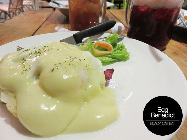 Egg benedict libreria eatery surabaya