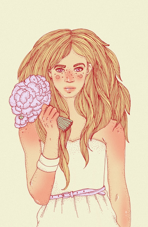 illustration 2012 by Daria Kusnezow, via Behance
