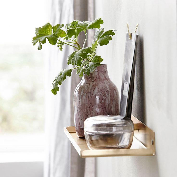 Ledge Shelf, Brass £17. - RoyalDesign.co.uk