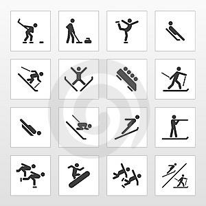 Winter sports logo