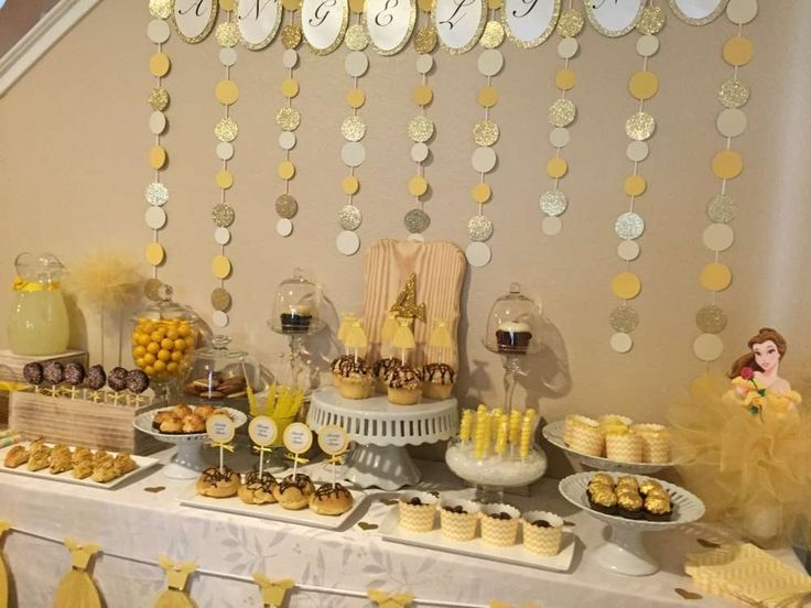 Stunning Beauty and the Beast birthday party! See more party ideas at CatchMyParty.com!