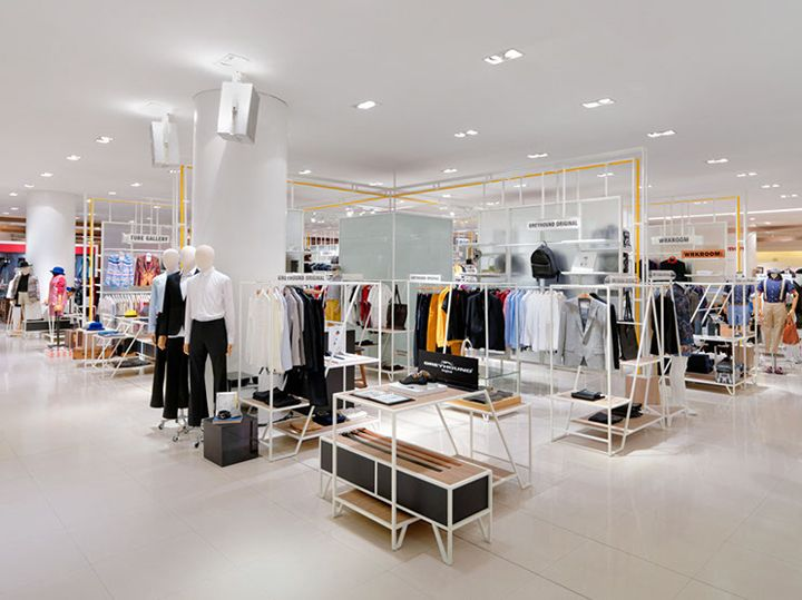 Mensfloor redesign at paragon department store by hmkm for Interior design department