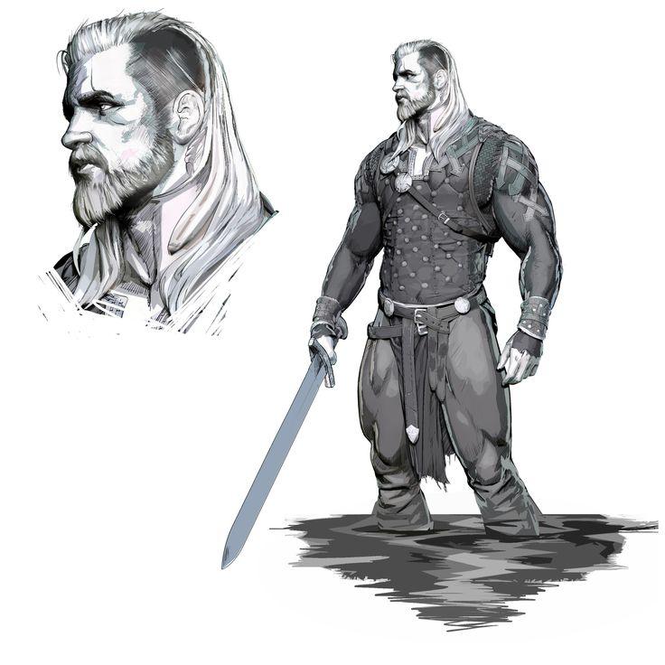 ArtStation - Viking sketch, Olivier Thill