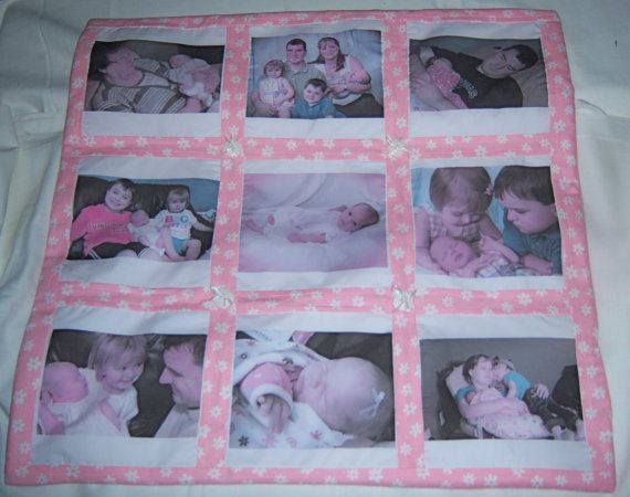 Nine Panel Photo Memory Heirloom Quilt  Made to Order. $99.95, via Etsy.: Quilts Memories, Heirloom Quilt, Gift Ideas, Memory Quilts, Mcgarritys