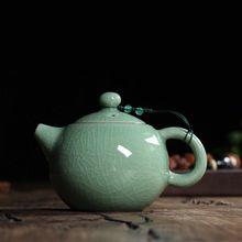 230 ml warme crackle glazuur broer oven longquan celadon zisha keramiek kunst grote capaciteit yixing klei antieke porseleinen theepot(China (Mainland))