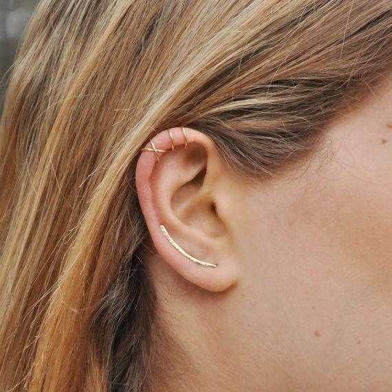 Scalatori orecchini scalatore dell'orecchio di Benittamoko su Etsy