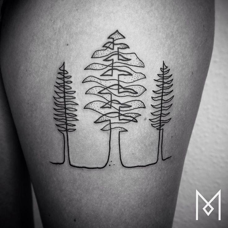Cuando veas estos preciosos tatuajes de una sola linea, no querrás tatuarte otra…