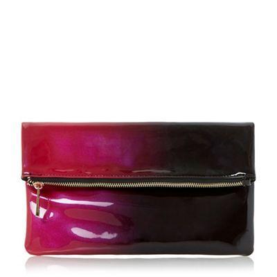 Head Over Heels by Dune Red 'Balley' ombre fold over clutch bag- | Debenhams