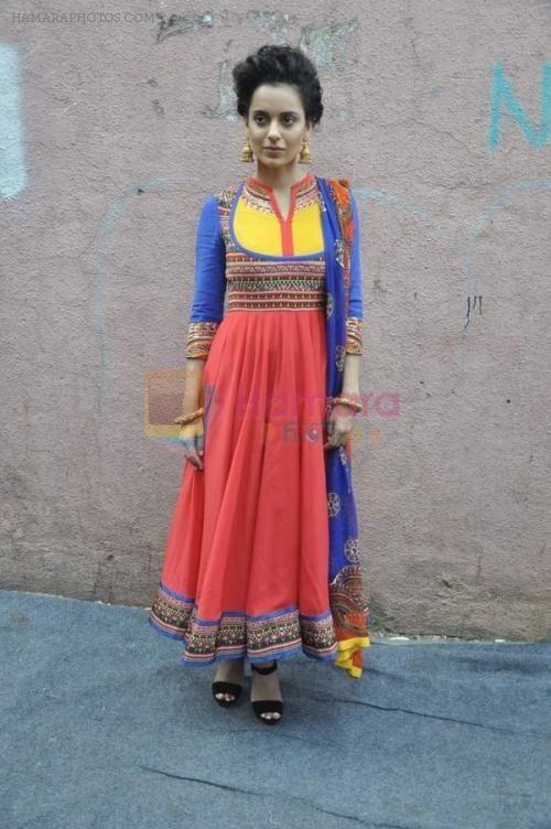 Kangana Ranaut wearing Indian by Manish Arora at India's Got Talent 2014 #kanganaranaut #manisharora #bollywoodtrends #anarkali