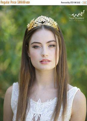 Hoja de griego corona corona de hojas de Laurel hoja de oro