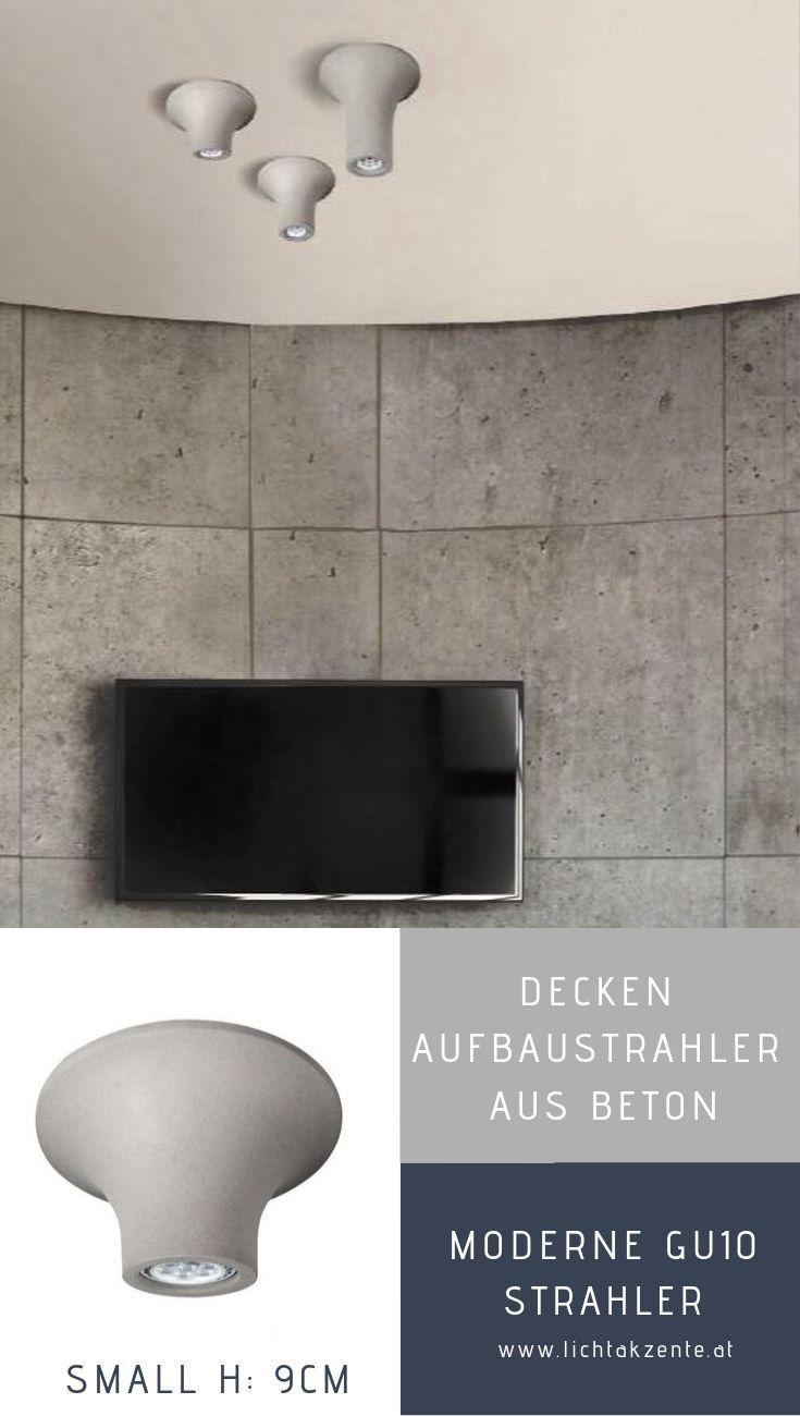 Beton Deckenstrahler Gipsal Gu10 Small Deckenstrahler Strahler Beleuchtung Decke