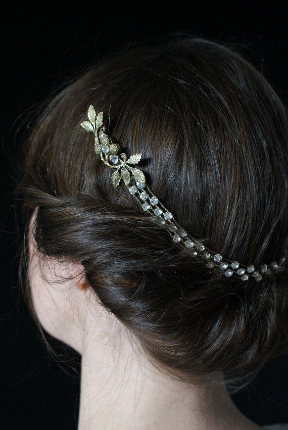 1920s Wedding Headpiece Vintage Bridal Hair Accessory by AgnesHart