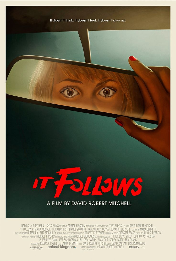 It Follows (David Robert Mitchell, 2014) US one sheet with artwork by Akiko Stehrenberger