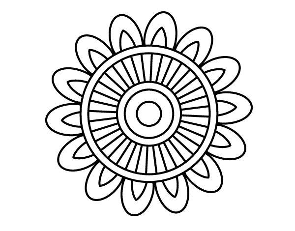 Dibujo de Mandala solar para colorear