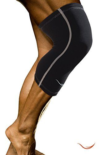 #1 Best Compression Knee Sleeves (1 Pair) - Keep Knee Warm, Immobilized, Strapped, & Supported for Men & Women in Running, Crossfit, Football, Sports, Hiking, Yoga, Pilate, Basketball, Weightlifting, & All Outdoor Activities - Protects Patella - Improves Circulation - Fast Recovery (Large, Black)