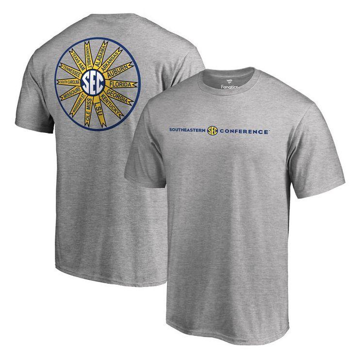 SEC Gear Fanatics Branded Members T-Shirt - Heather Gray