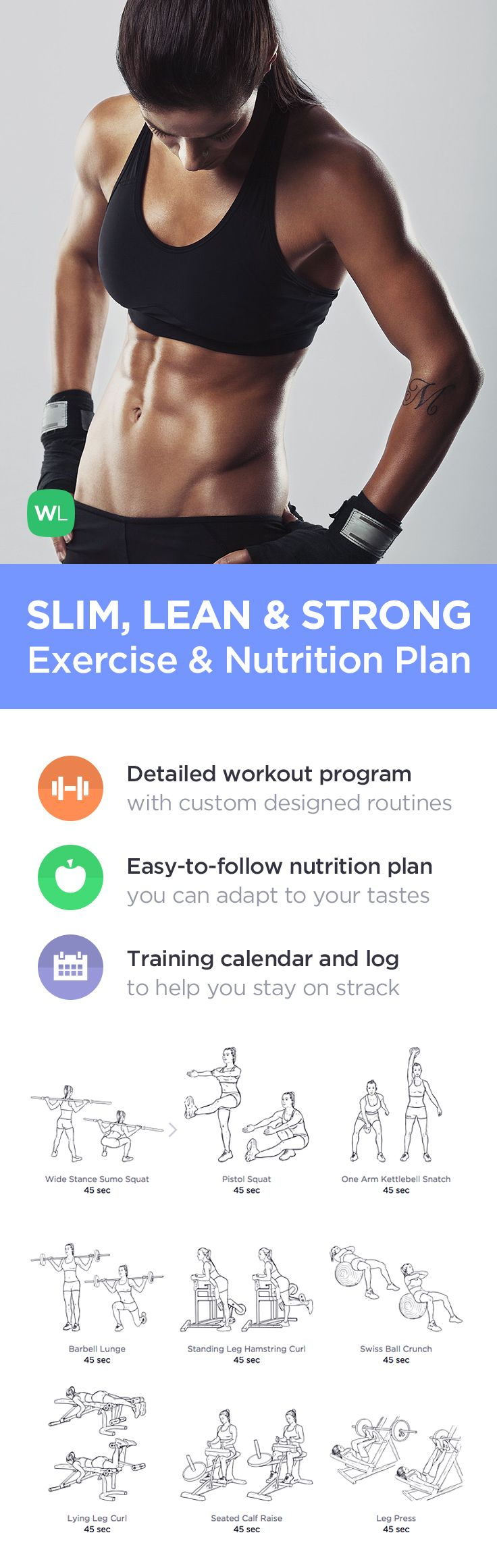 Shed extra pounds and tone your whole body in just weeks with illustrated 20-minute HIIT gym workouts, training advice and a simple nutrition guide you will enjoy following. Visit http://WLabs.me/SlimLeanStrong