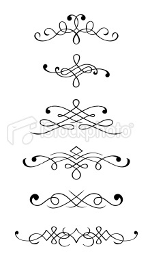 Vintage motifs and monograms