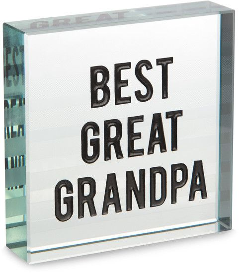 Best Great Grandpa - Glass Plaque