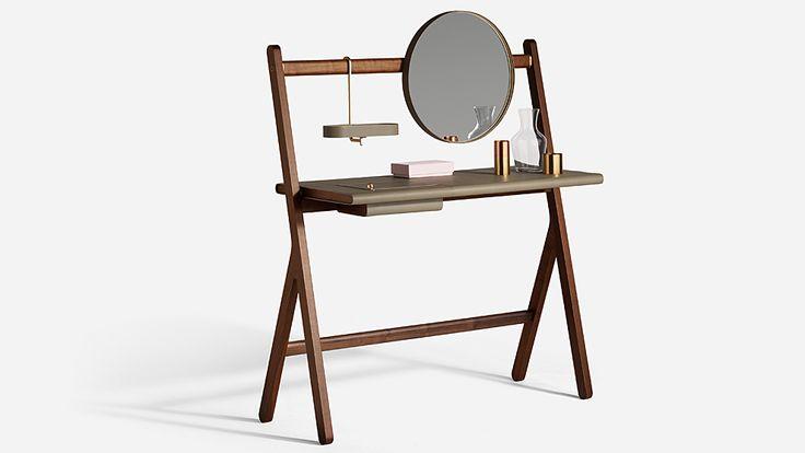 El espejo dota de polivalencia al mueble Vanity que puede situarse a...