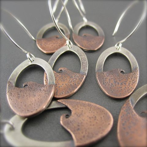 Mixed Metal Copper Wave Earrings no.2 – Beth Millner Jewelry