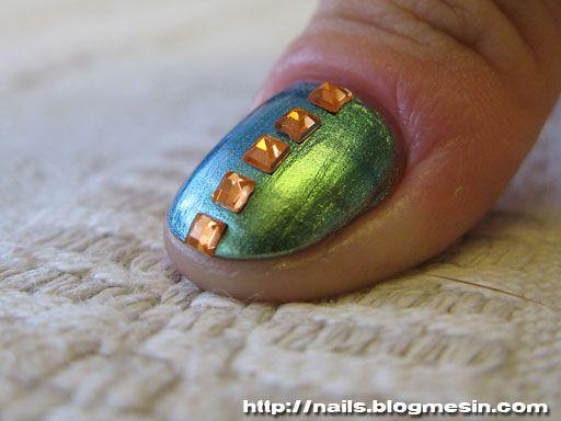 Nail art.Nails Art, Diana Nails, Metallic Nails, Beautiful, Metals Nails, Nails Polish, Nails Lacquer, Amazing Nails