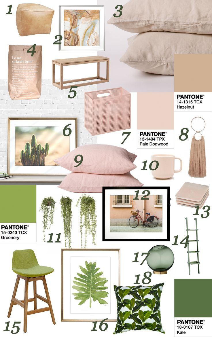 Pantone colours of the year interior inspo: Product roundup | Greenery, Dogwood & Friends