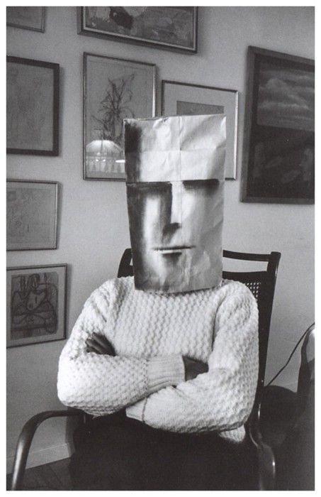 """from the book """"Saul Steinberg Masquerade"""" by photographer Inge Morath"""
