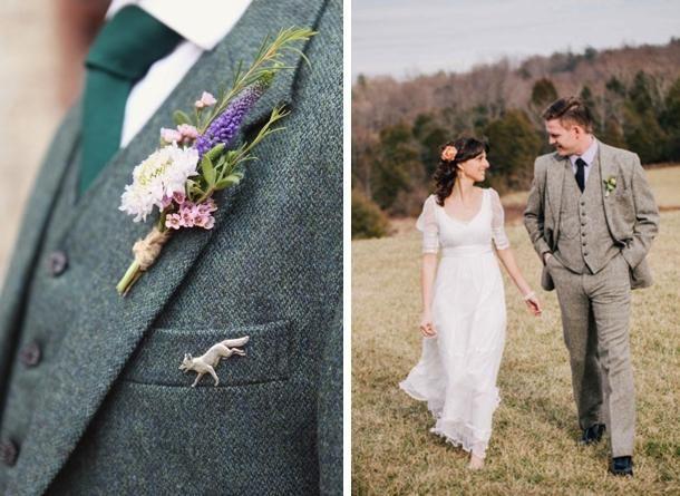 Grooms & Groomsmen In Tweed Suits | SouthBound Bride - Weddbook