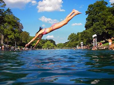 Dive into the refreshing waters of Barton Springs!: Swim Hole, Spring Pools, Austin Texas, This Summer, Austin Fun, The Heat, Cool Photo, Austin Tx, Barton Spring