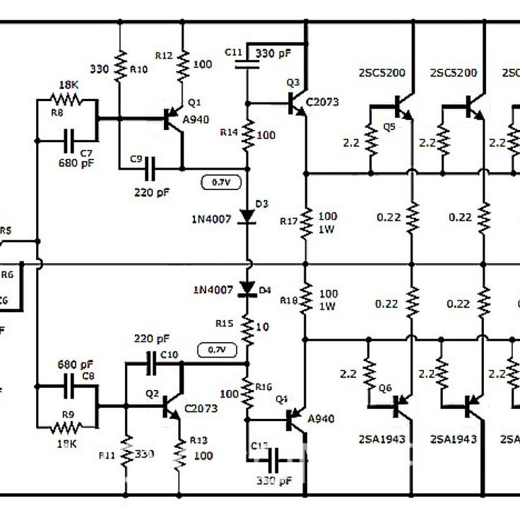 2sc5200 power amplifier circuit diagram